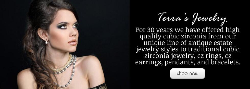 Cz Jewelry Cubic Zirconia Rings Antique 14k Gold Earrings Terra S